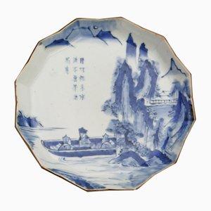 Plato japonés antiguo de porcelana