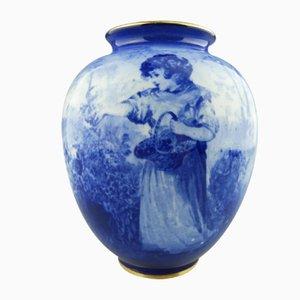 Vaso antico blu di Royal Doulton