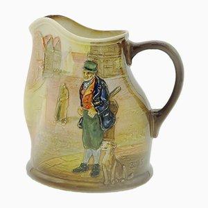 Jarra Dickens de porcelana de Royal Doulton, años 30