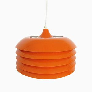 Vintage Orange Pendant Lamp by Hans-Agne Jakobsson