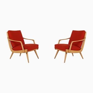 Vintage Cherry Lounge Chairs, Set of 2