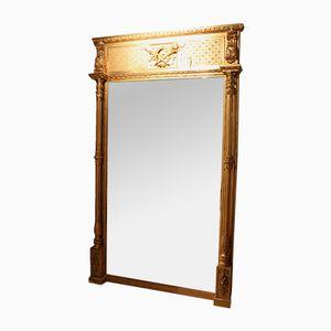Großer antiker Spiegel im vergoldeten Rahmen