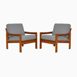 Teak Armchairs, 1960s, Set of 2