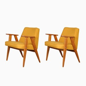 Model 366 Armchairs by Józef Chierowski, 1960s, Set of 2