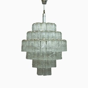 Grande Lampe à Suspension en Verre Murano, 1960s