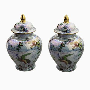 Lustre Vases by A.G. Harley Jones for Wilton Ware, 1923, Set of 2