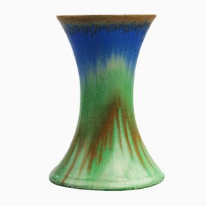 British Shelley Drip Glaze Harmony Vase by Eric Slater, 1930s