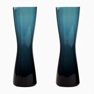 Vases 9594 en Verre par Geoffrey Baxter pour Whitefriars, 1966, Set de 2