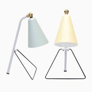 Lampes de Bureau 625/30 par J.J.M. Hoogervorst pour Anvia, 1950s, Set de 2