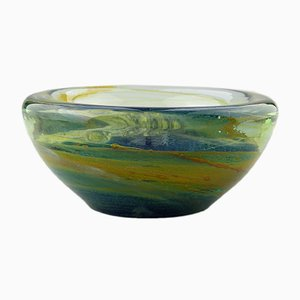 Vintage Maltese Glass Bowl by Michael Harris for Mdina Glass