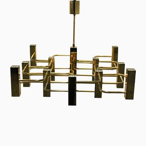 Mid-Century 13-Light Chandelier by Gaetano Sciolari for Boulanger