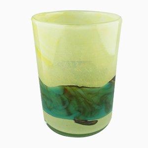Grand Vase Vintage en Verre par Michael Harris pour Mdina Glass, Malte