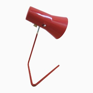 Model 21616 Red Table Lamp by Josef Hurka for Drupol, 1960s