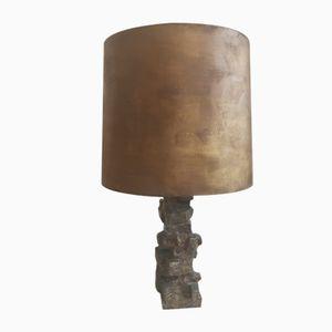 Lámpara de mesa brutalista, años 70