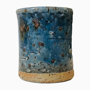 Stoneware Blue Glazed Vase by Marianne Westman for Rörstrand, 1960s