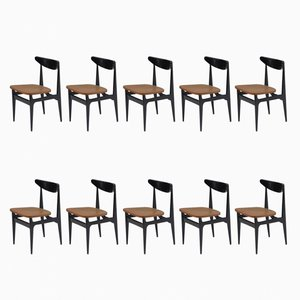 Mid-Century Dining Chairs, 1950s, Set of 10