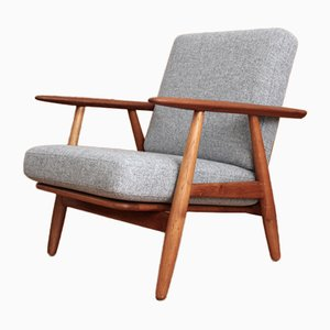 GE240 Oak and Teak Cigar Chair by Hans Wegner for Getama, 1955