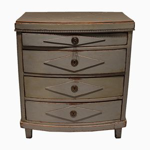 Gustavian Grey Painted Chest of Drawers, 1830s