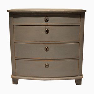 Gustavian Grey Painted Chest of Drawers, 1880s