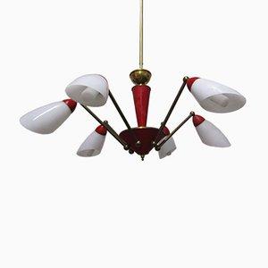 Lámpara de araña Sputnik de Stilnovo, años 50