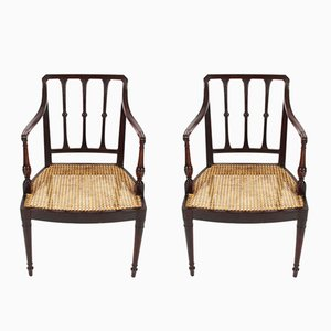 Antique Caned Chairs, Set of 2