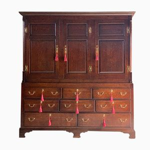 Antique Oak Housekeepers Cupboard, 1770s