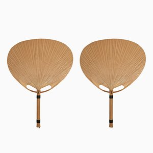 Uchiwa III Fan Wall Lamps by Ingo Maurer for Design M, 1970s, Set of 2