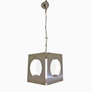 Lámpara colgante cúbica de Paolo Tiche para Sirrah, años 70