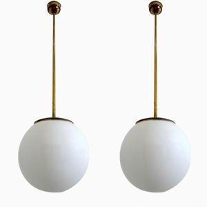 Vintage Pendant Lamps, 1930s, Set of 2