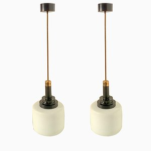 Lampes à Suspension de Stilnovo, 1950s, Set de 2