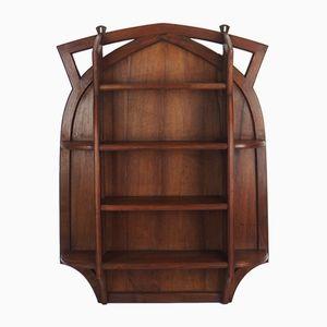 Art Nouveau Mahogany Wall Shelves