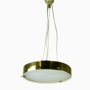 Brass & Glass Ceiling Lamp by Bruno Gatta for Stilnovo, 1960s