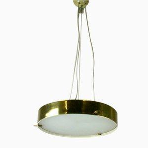 Deckenlampe aus Messing & Glas von Bruno Gatta für Stilnovo, 1960er