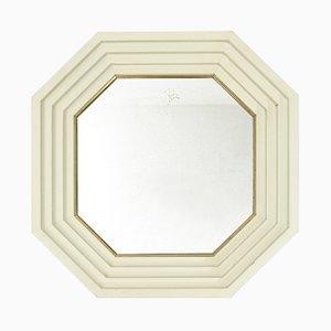 Italienischer Mid-Century Spiegel mit weißem Rahmen von Carlo de Carli für Sormani, 1960er