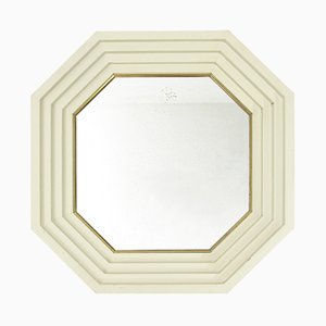 Mid-Century Italian White Mirror by Carlo de Carli for Sormani, 1960s