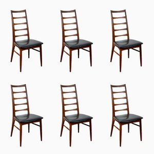Moderne skandinavische Esszimmerstühle aus Teak von Niels Koefoeds für Hornslet Møbelfabrik, 1960er, 6er Set