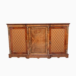 Burr Walnut Breakfront Cabinet, 1860s