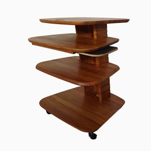 Tiered Console Table by Aksel Kjersgaard for Odder Adjustable, 1970s