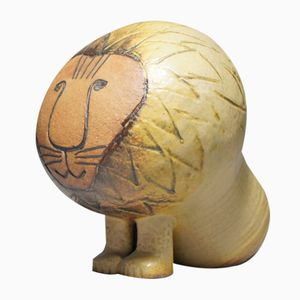 Vintage Africa Series Lion Sculpture by Lisa Larson for Gustavsberg