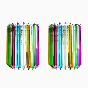 Murano Glass Wall Sconces, 1984, Set of 2