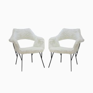 Czech Lounge Chairs, 1960s, Set of 2