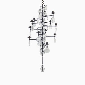 Lámpara de araña vintage con velas de Erik Hoglund para Boda Smide