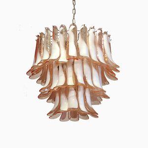 Lámpara de araña italiana de cristal de Murano de Mazzega, 1984