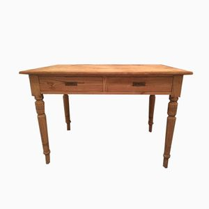 Antique Fir Table with Drawers