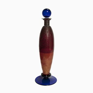 Murano Glass Bottle by Carlo Moretti, 1996