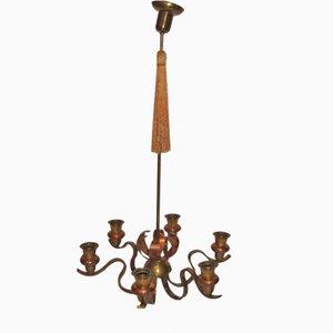 Lámpara de araña vintage, años 30