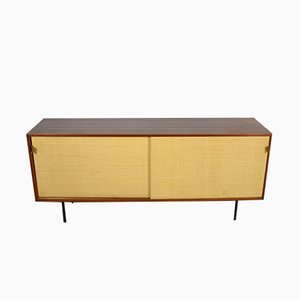 Vintage Cabinet with Sliding Doors by Florence Knoll for Knoll