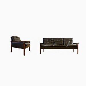 Sofá y silla daneses de Hans Olsen para CS Møbelfabrik, años 60