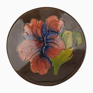 Hibiscus Bowl by Walter Moorcroft, 1953
