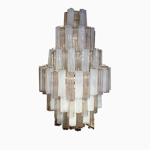 Large Tronchi Chandelier by Toni Zuccheri for Venini, 1980s